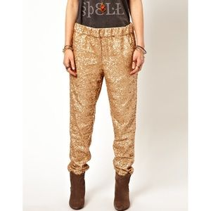 Free People Sequin Party Track Pants